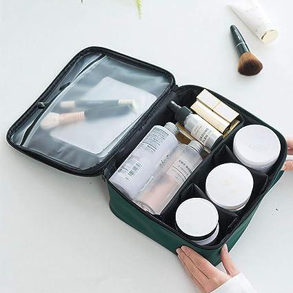 Estuche de maquillaje, Bolsa de maquillaje de viaje, Organizador de maquillaje profesional Bolsa de cosméticos de aseo portátil, Bolsas de cosméticos Holder para mujeres (Black): Amazon.es: Belleza