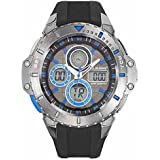 All Blacks - 680230 - Montre Homme - Quartz Digital - Cadran Noir - Bracelet Plastique Noir