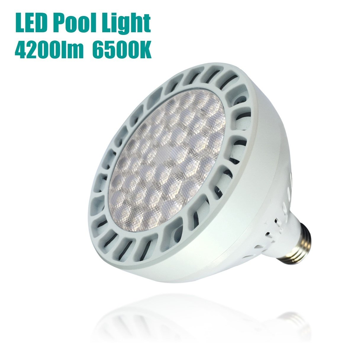 TOVEENEN LED Pool Light 45W 4200lm White Light 6500K Replacement for Incandescent Bulbs in Pool Light (120V,45W)