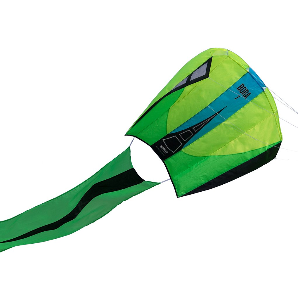 Prism Bora 7 Single-line Parafoil Kite, Jade by Prism Kite Technology