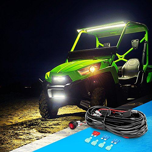 Nilight LED Light Bar Wiring Harness Kit 12V On Off Switch Power Relay on