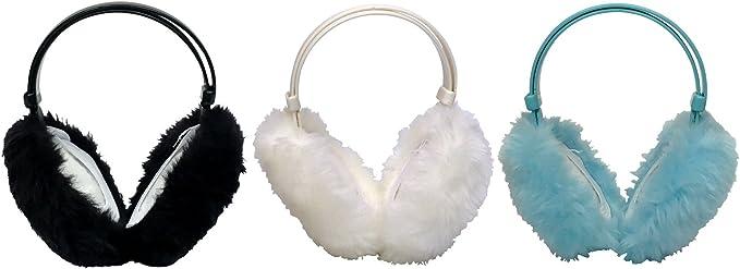 Thinsulate 3 pack bambini ragazza caldo peluche regolabili paraorecchie per invernali in 4 colori