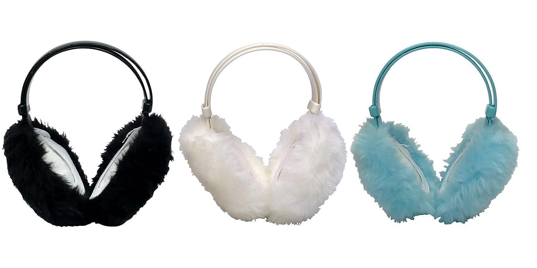 One Size, EM4 3 Pack Kids Girls Cute Winter Warm Adjustable Foldable Ear Muffs Thinsulate