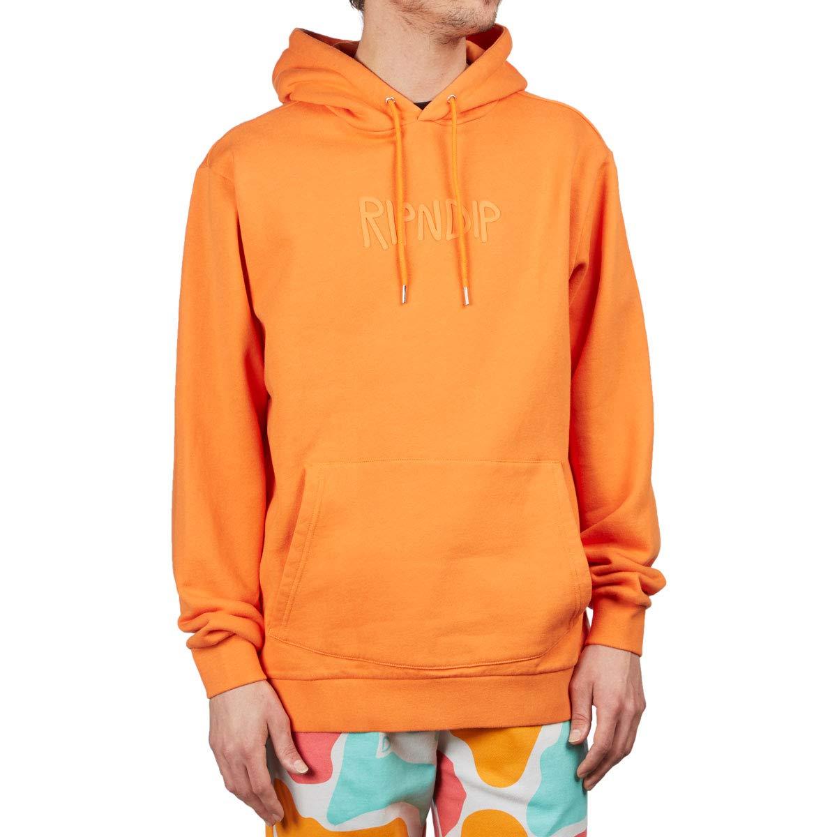 RIPNDIP Rubber Logo 3D Rubber Hoodie Orange