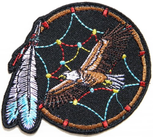 [Dream CatcherLady Eagle Hawk Indian Bird Feather Logo Rider Biker Tatoo Jacket T-shirt Patch Sew Iron on Embroidered Sign Badge] (Indian Costume No Sew)