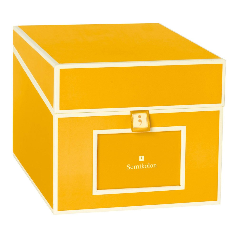 Semikolon Multimedia CD/DVD/Photo Storage Box, Sun Yellow (31801)