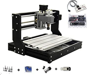 ER11 Collet 3 Axis CNC 3018 PRO DIY Mini Engraving Milling Rounter Laser Machine Working Area 30x18x4.5cm