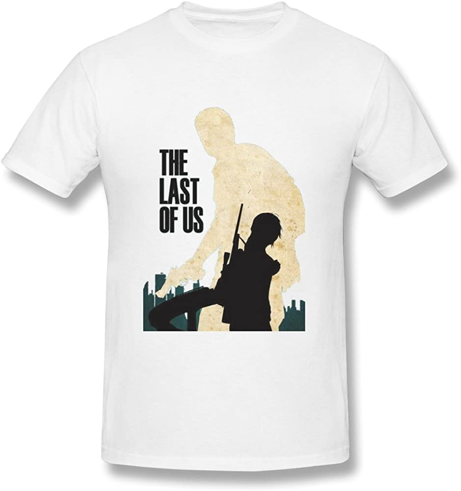 QMY Men's The Last Of Us Game Poster T-shirts White