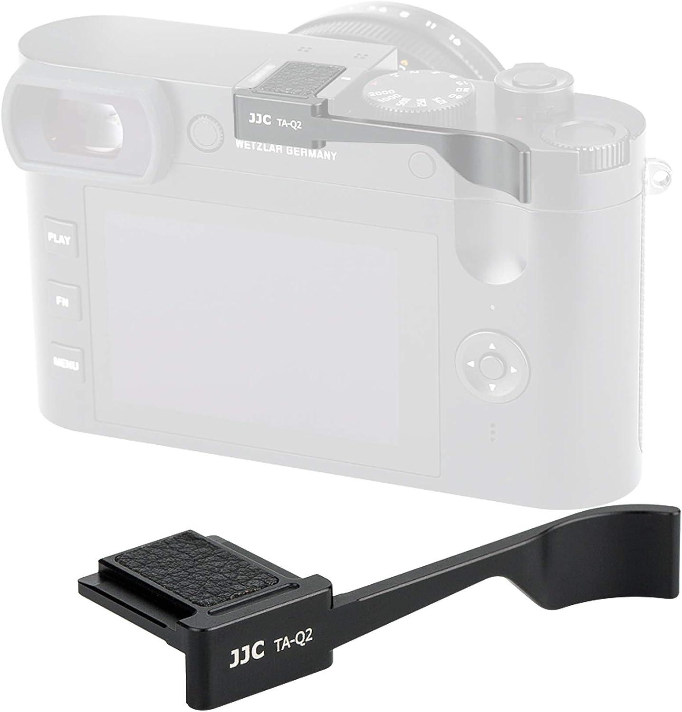JJC TA-Q2 Thumbs Up Grip for Leica Q2 Camera, Leica Q2 Thumb Grip, Made of Premium Anodized Aluminium Alloy, Silicone Pad, Hot Shoe Grip for Leica Q2, Weight 5G, Size 62x126x212.9mm