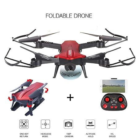 QUARKJK 2.4G Dron para Selfies Plegable con WiFi 720P 110 Grados ...