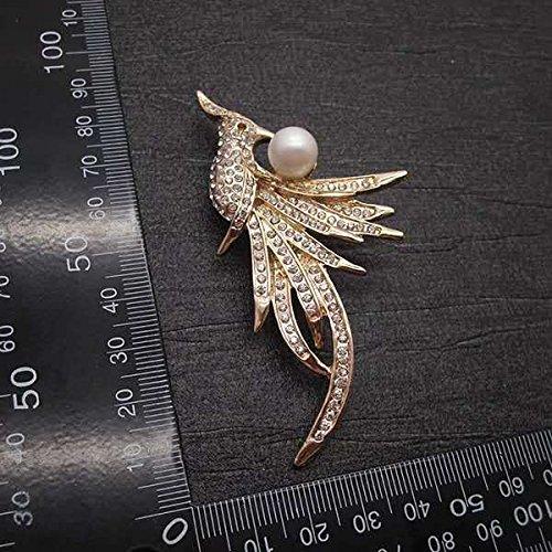 (The big European and American fashion jewelry elegant luxury diamond brooch exquisite wild personality Phoenix)