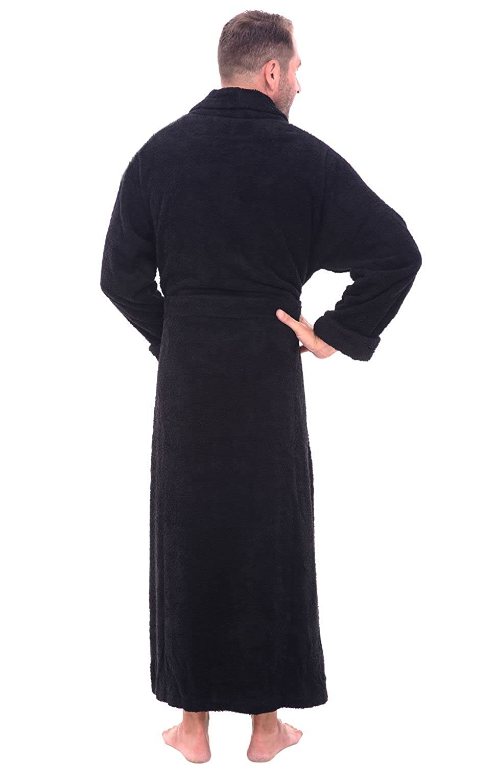 Alexander Del Rossa Mens Turkish Terry Cloth Robe Long Cotton Bathrobe At Amazon Clothing Store