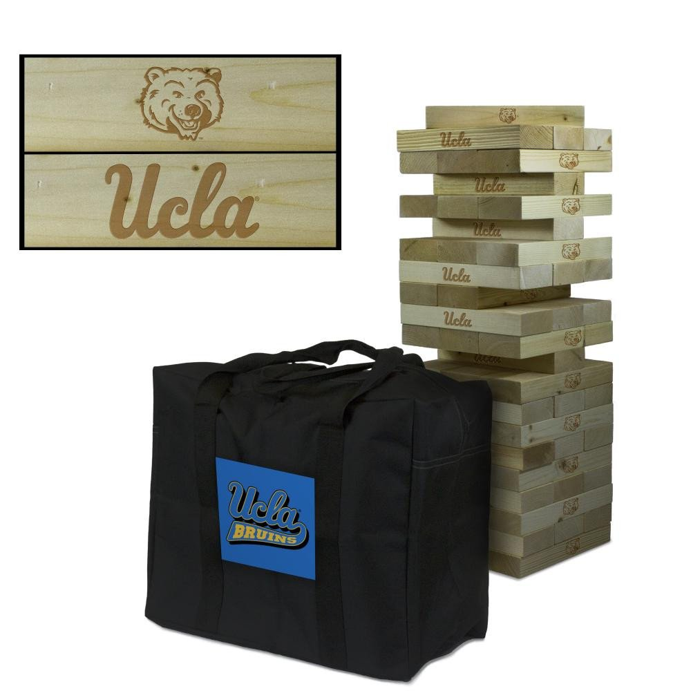 NCAA University of California Los Angeles Bruins 814546California Los Angeles UCLA Bruins Wooden Tumble Tower Game Primary Logo Tower, Multicolor, One Size