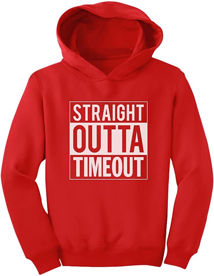TeeStars Straight Outta Timeout Funny Kids Toddler Hoodie