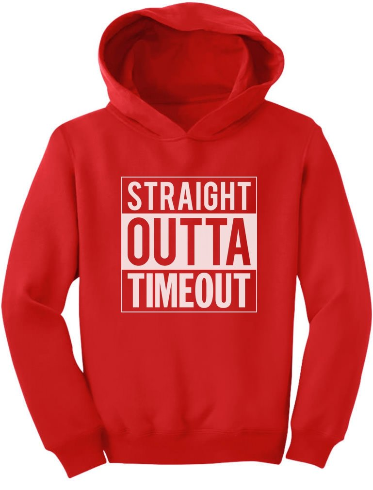 TeeStars - Straight Outta Timeout Funny Kids Toddler Hoodie GhPhllMgvm