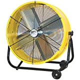 MaxxAir BF24TFYELUPS High Velocity Air Movement Two Speed Portable Air Circulator Fan, 24-Inch, Yellow