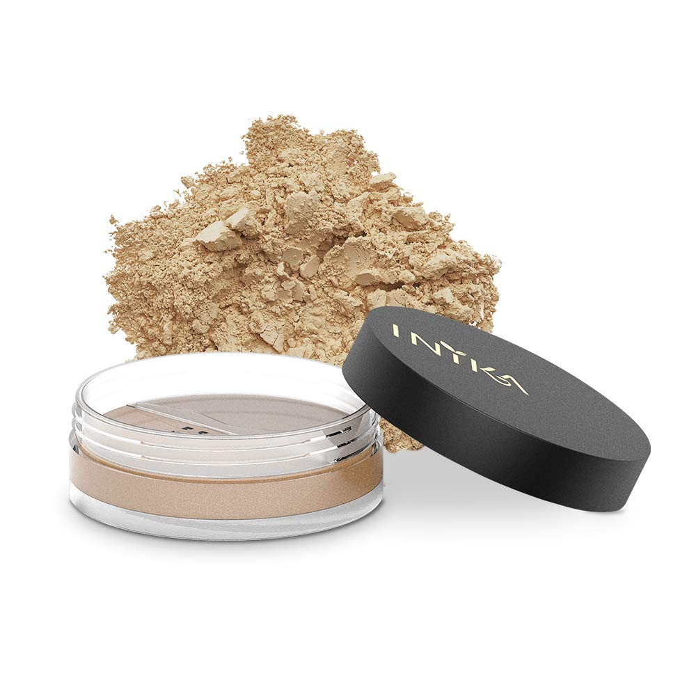 INIKA Loose Mineral Foundation Powder SPF25 All Natural Make-Up Base, Concealer, Flawless Coverage, Water Resistant, Hypoallergenic, Halal, 8g (0.28 oz) (Patience)