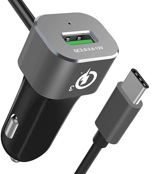 Cargador de coche doble USB C, brexlink Quick Charge 3.0 ...