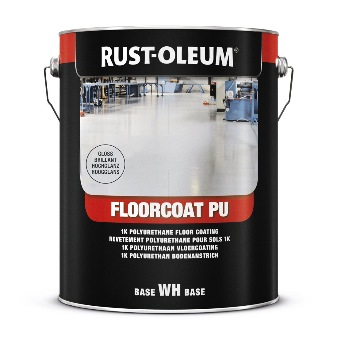 RUST-OLEUM 7268.2.5 Floor coat, Pu, Durable Single Pack Paint, English red