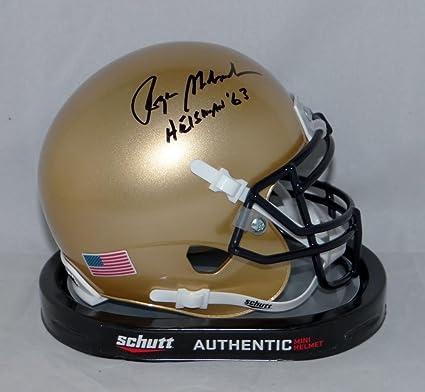bf77b8c3de5 Amazon.com: Roger Staubach Signed Navy Midshipmen Schutt Mini Helmet W Auth  Heisman Insc - JSA Certified - Autographed College Mini Helmets: Sports ...