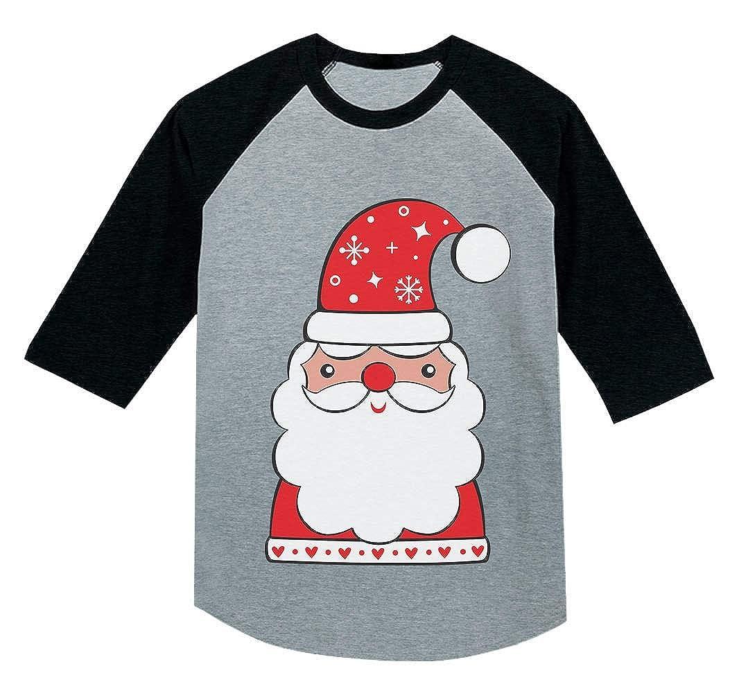 Tstars Cute Santa Claus Outfit for Christmas 3//4 Sleeve Baseball Jersey Toddler Shirt