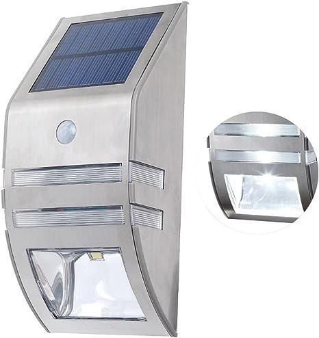 Escalera Solar PIR Cuerpo Sensor Inteligente Detector de Movimiento de Pared Luz LED Jardín Balcón Exterior Decoración de césped 2 Lámpara LED: Amazon.es: Deportes y aire libre