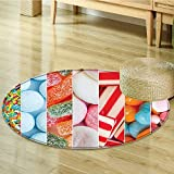 Small round rug Carpet Gen Yoga Statue Asian Meditation Fountain Culture Serenity Themed door mat indoors Bathroom Mats Non Slip-Round 55''