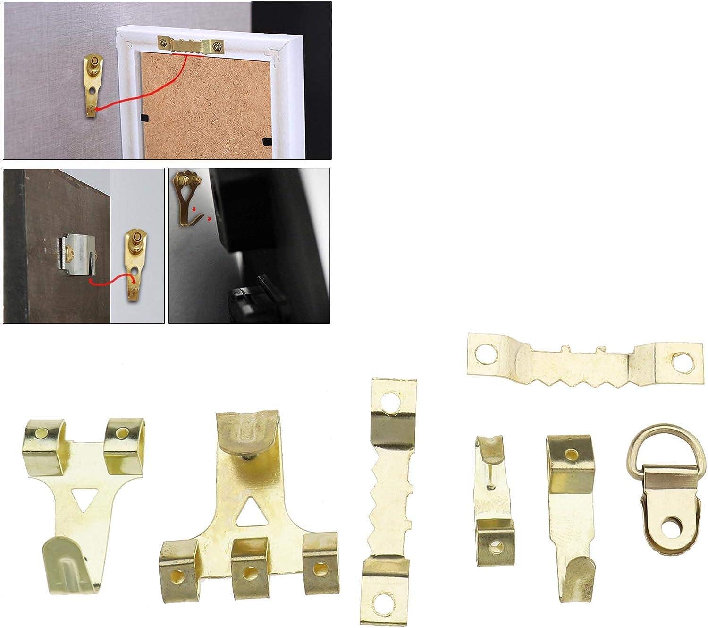 280pcs Bild Hängen Kit mit Box Kleiderbügel Bilderrahmen Haken Sortiment