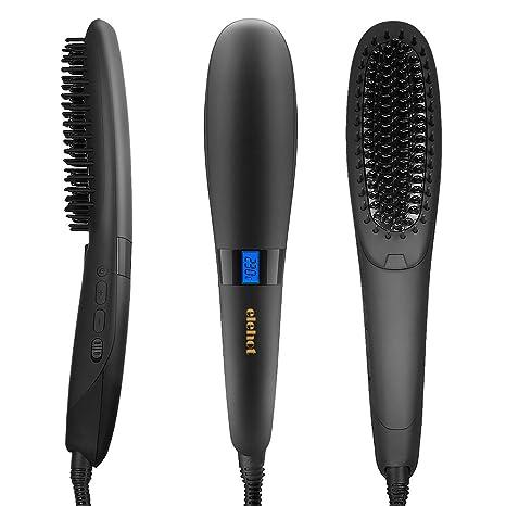 elehot nasv alisador de cabello Cepillo Ion pelo calentamiento rápido Función con protección de calor para