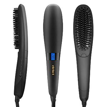 elehot nasv alisador de cabello Cepillo Ion pelo calentamiento rápido Función con protección de calor para pelo pflegen, color negro: Amazon.es: Salud y ...