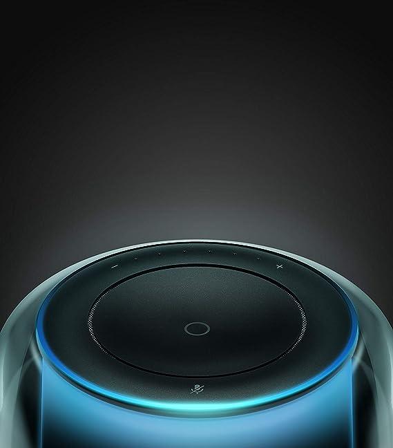 Harman-Kardon Allure Altavoces inteligentes con Alexa integrada– Altavoz portátil con sonido estéreo de 360º, speaker negro con luces