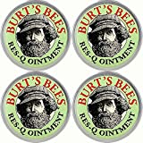 Burt's Bees 100% Natural Res-Q Ointment, 0.3 Ounce, (Pack of 4)