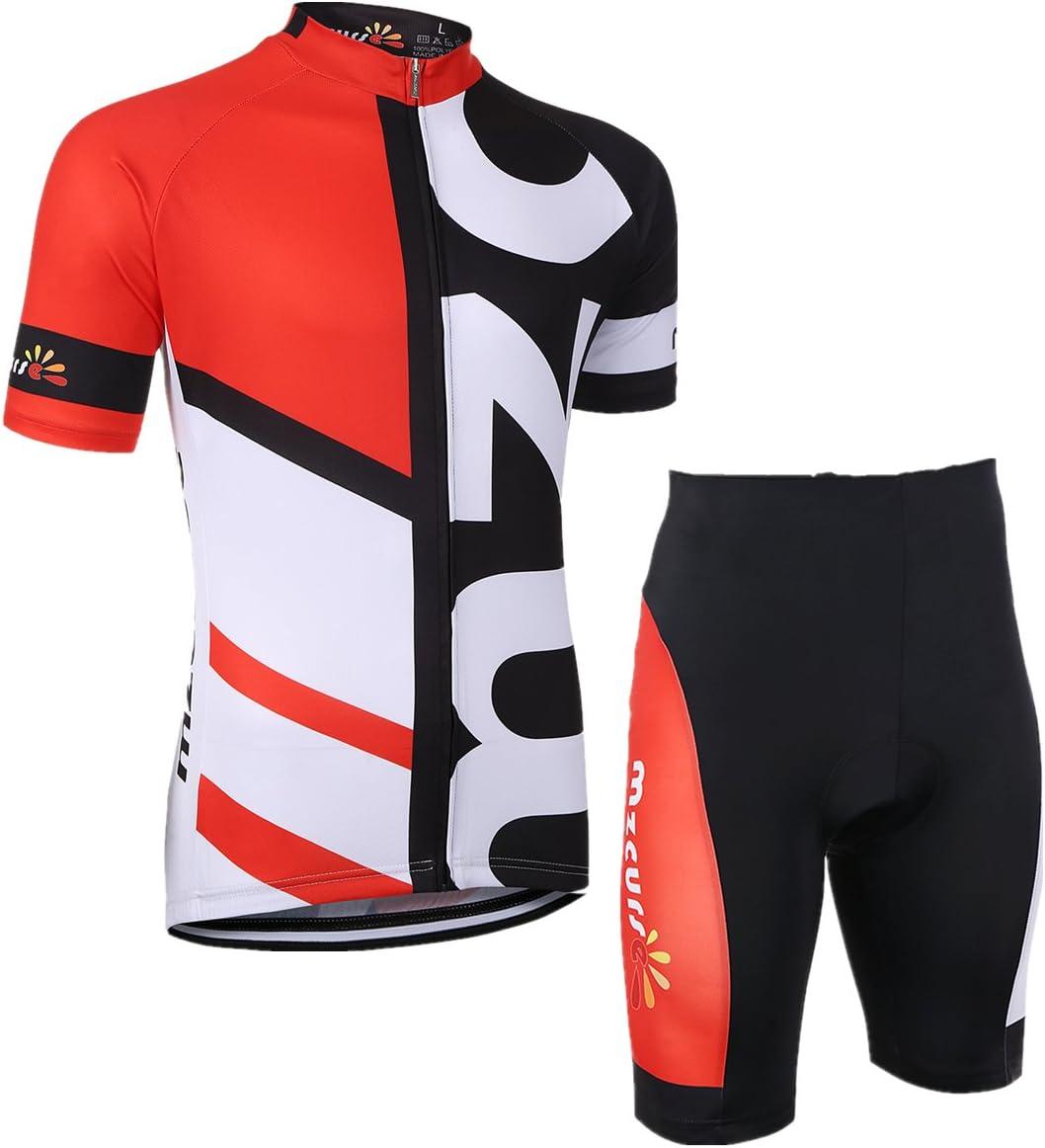 MzcurseメンズアウトドアPro Team Short Sleeve Cycling Jersey Shorts Set