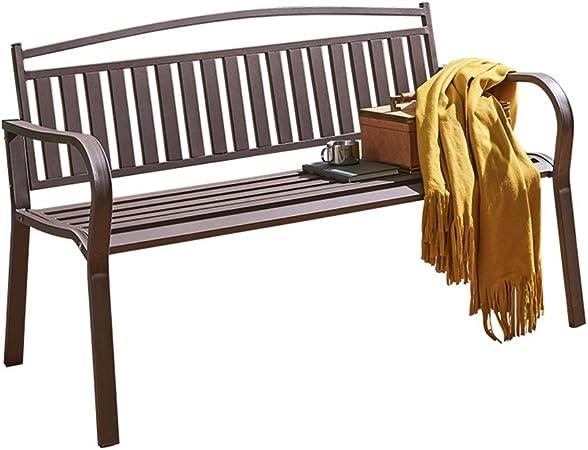 Bancos Banco De Jardín Banco De Jardín De Hierro Doble Banco De Jardín Anticorrosión A Prueba De Herrumbre Terraza Al Aire Libre Balcón Muebles De Jardín Asientos En Pareja: Amazon.es: Hogar