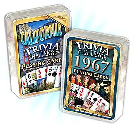 Amazon.com: 1967 Trivia Juego de cartas & California Trivia ...