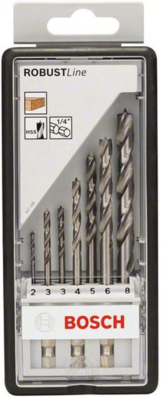 Bosch Professional PointTeQ Sechskantbohrer f/ür Metall, /Ø: 2/mm, Arbeitsl/änge: 24/mm, Gesamtl/änge: 60/mm, /¼-Sechskantschaft, Zubeh/ör f/ür Schlagschrauber und Bohrschrauber