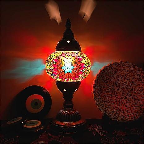 Lámpara de mesa clásica turca, lámpara de mesa hecha a mano ...