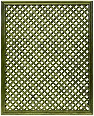 Celosía De Madera Tratada para Decoración De Terrazas, Jardines y Exteriores - Verde (114x92 cm): Amazon.es: Jardín