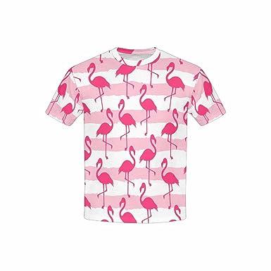 INTERESTPRINT Childs T-Shirt Pink Flamingo XS-XL