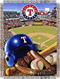 "MLB Texas Rangers Home Field Advantage Woven Tapestry Throw, 48"" x 60"""