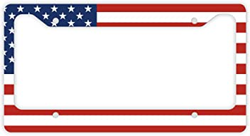 ThisWear USA License Plate American Patriotic USA Flag License Plate Veteran Patriot Novelty License Plate Frame USA