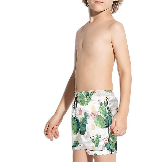 Etstk A Unicorn Kids Comfortable Swim Trunks for Students