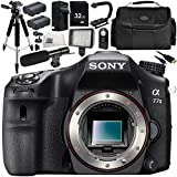 Sony Alpha a77 II DSLR Camera (Body Only) 13PC Accessory Bundle – Includes 32GB SD Memory Card + 2x Replacement Batteries + AC/DC Rapid Home & Travel Charger + MORE