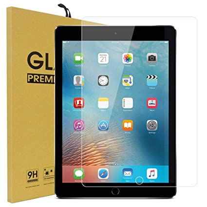 """Premium Tempered Glass Screen Protector for New iPad 5th 6th Gen 9.7/"""" 2017// 2018"""