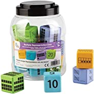 hand2mind Multiple Representation Math Foam Dice for Kids (Ages 5+) | Each Die Represents a Number with Ten-Frame, Tally Mark