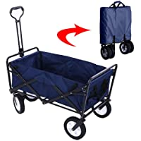 Garden Cart Folding Wagon Foldable Heavy Duty Outdoor Trolley Utility Transport Cart 80kg Max Load, for Outdoor…