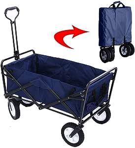 عربة نقل لحمل الأغراض أثناء النزهات والأنشطة الخارجية والتخييم قابلة للطي والفتح مع غطاء قابل للتبديل