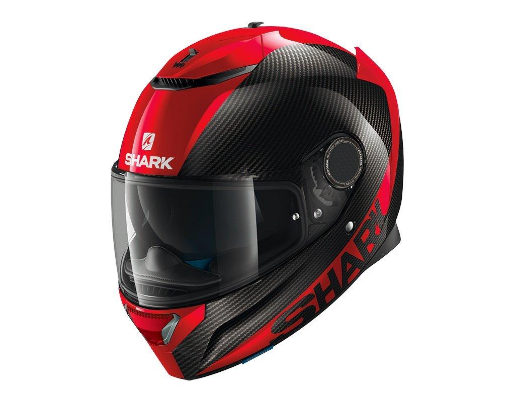 Black//Red SHARK SPARTAN CARBON SKIN DRR Motorcycle Helmet Size XL