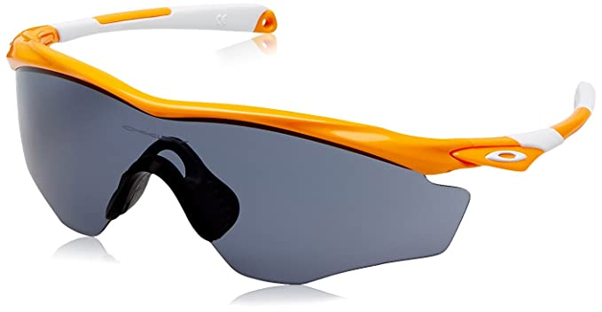 oakley mens m2 frame xl oo9343 03 shield sunglasses atomic orange