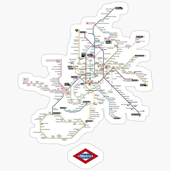 Deangelo Madrid - Pegatinas de metro (3 unidades): Amazon.es: Hogar